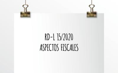 Nota de Aviso 14/2020. RD-L 15/2020 Aspectos Fiscales.