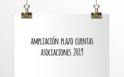 Nota de Aviso 19/2020. Ampliación plazo cuentas asociaciones 2019.