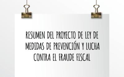 Nota de Aviso 30/2020. Resumen del Proyecto de Ley de medidas de prevención y lucha contra el fraude fiscal.