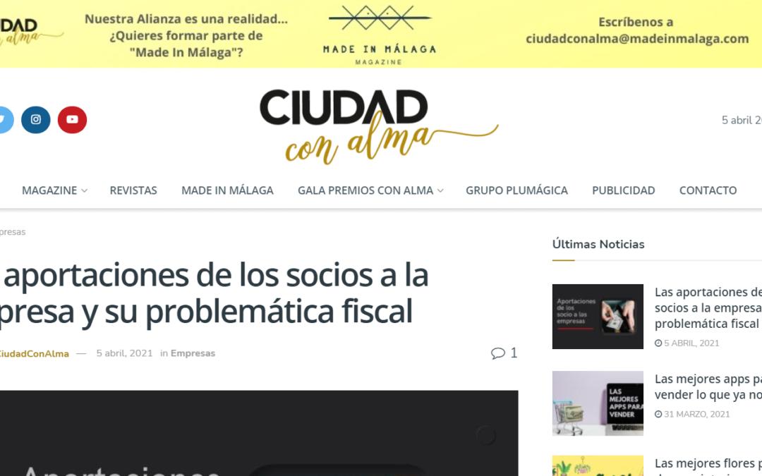 Las aportaciones de los socios a la empresa y su problemática fiscal – Ciudad con Alma