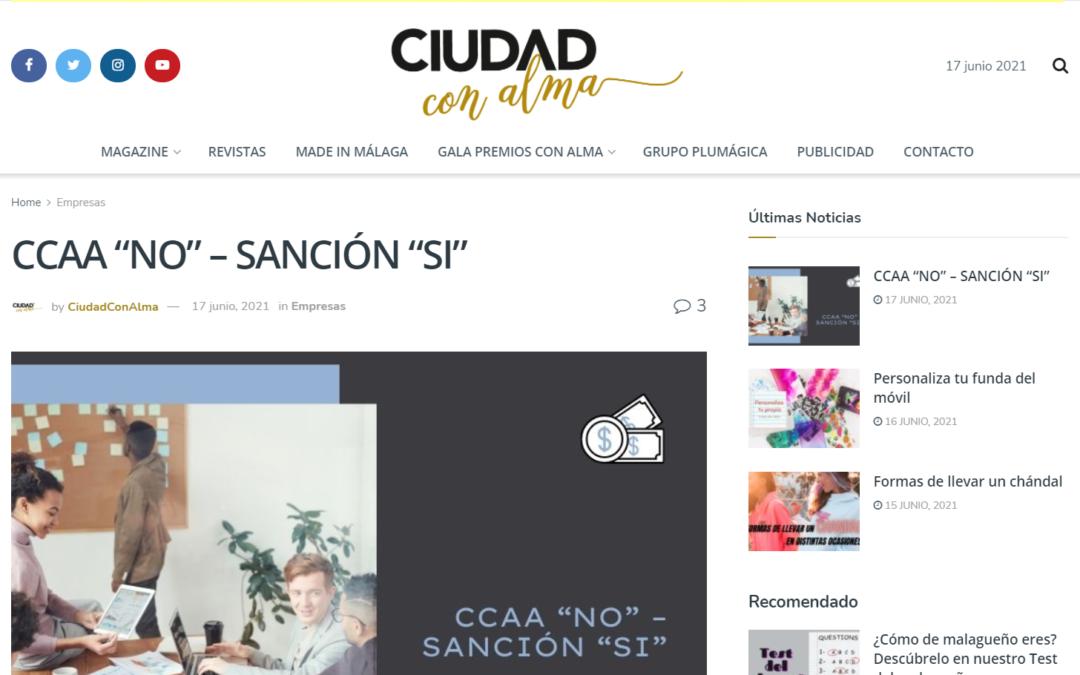 """CCAA """"NO"""" – SANCIÓN """"SI"""" – Ciudad con Alma"""