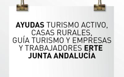 Nota de Aviso 08/2021. Ayudas turismo activo, casas rurales, guía turismo y empresas y trabajadores ERTE Junta de Andalucía