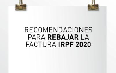 Nota de Aviso 27/2020. Recomendaciones para rebajar la factura #IRPF 2020.
