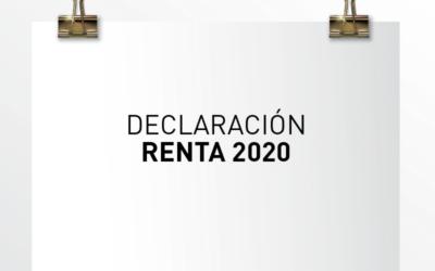 Nota de Aviso 10/2021. Declaración RENTA 2020. Novedades y aspectos a tener en cuenta.