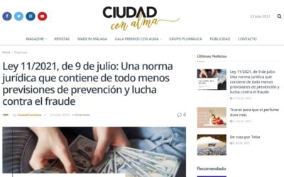 Ley 11/2021, de 9 de julio: Una norma jurídica que contiene de todo menos previsiones de prevención y lucha contra el fraude – Ciudad con Alma