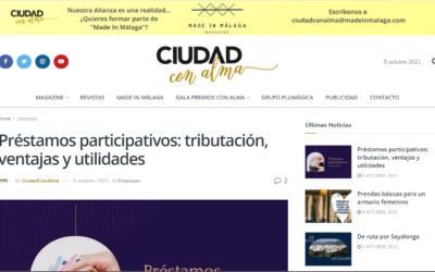 Préstamos participativos: tributación, ventajas y utilidades – Ciudad con Alma