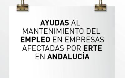 Nota de Aviso 19/2021. Ayudas al mantenimiento del empleo en empresas afectadas por el ERTE en Andalucía
